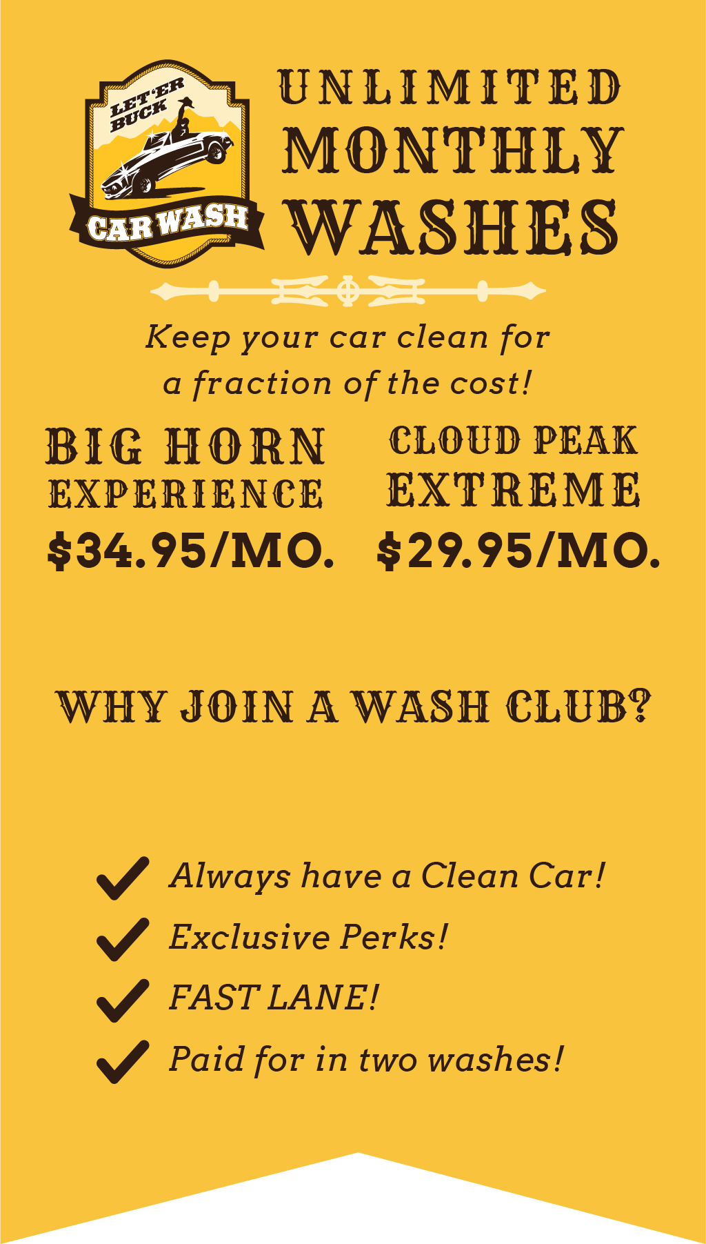 FAQ - Let'Er Buck Carwash